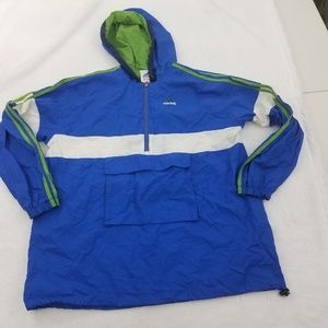 Adidas Vintage Men's Jacket Blue Long Sleeve 1/2 Z